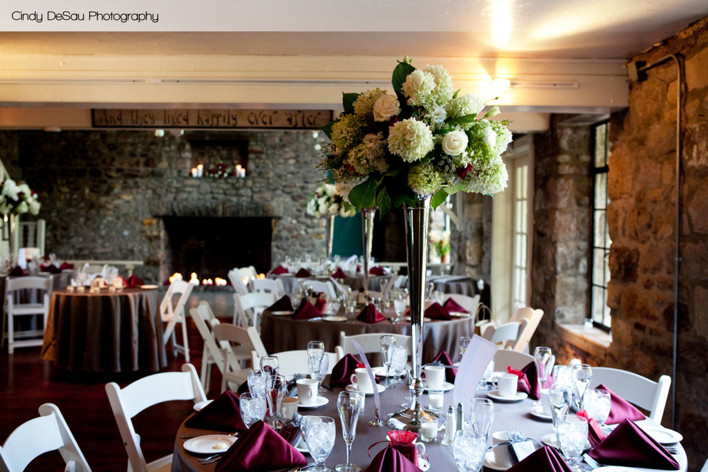 Holly Hedge Wedding Country Romantic Fieldstone Barn Dining